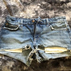 Joes jean shorts distressed
